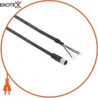 Кабельный гнездовой разъем XZ - прямая розетка - M8 - 4 раз - кабель PUR 2м