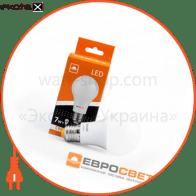 Лампа світлодіодна ЕВРОСВЕТ 7Вт 3000К A-7-3000-27 Е27