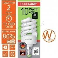 t2 spiral  10w e14 4100k энергосберегающие лампы eurolamp Eurolamp ES-10144