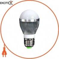 Лампа светодиодная e.save.LED.G50C.E27.3.4200 тип шар, 3Вт, 4200К, Е27 (ал)