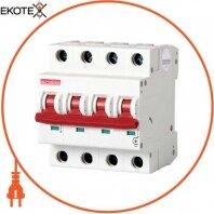 Модульный автоматический выключатель e.industrial.mcb.100.3N.C20, 3р + N, 20А, C, 10кА