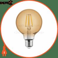 Лампа филамент LED Глоб 4W Е27 2200К 360Lm 220-240V