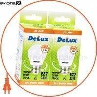 Светодиод.лампа_DELUX_BL50P 5 Вт_2700К 220В E27 (промо)_2 шт.