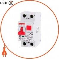 Выключатели дифференциального тока с защитой от сверхтоков e.rcbo.pro.2.C10.30, 1P+N, 10А, С, тип А, 30мА