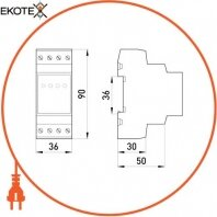 Enext p0690008 реле контроля напряжения трехфазное нерегулируемое e.control.v03