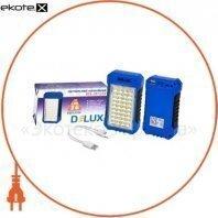 Светильник светодиодный аварийный DELUX REL 101 (4V2.4Ah) 36 LED 4W 69x37x125