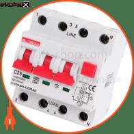 Выключатель дифференциального тока с защитой от сверхтоков e.rcbo.pro.4.C25.30, 3P+N, 25А, С, тип А, 30мА