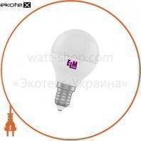 Лампа светодиодная шар PA10 5W E14 3000K алюмопласт. корп. 18-0172