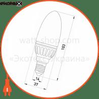 лампа світлодіодна e.save.led.c37m.e14.4.2700 тип свічка, 4вт, 2700к, е14 светодиодные лампы enext Enext l0650102