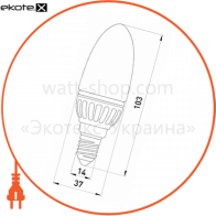 l0650102 Enext светодиодные лампы enext лампа світлодіодна e.save.led.c37m.e14.4.2700 тип свічка, 4вт, 2700к, е14