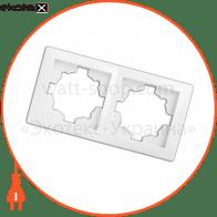 рамка WEGA 9302 2-секційна біла
