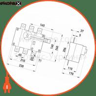 вимикач-роз'єднувач навантаження e.industrial.ukg.315.3, 3р, 315а, з фронтальною рукояткою управління