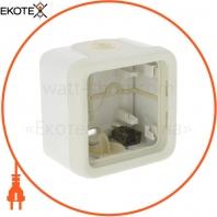 Коробка 1-а для накладного монтажа «Legrand» Plexo — 69689, цвет белый