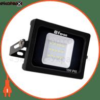 прожектор свiтлодiодний LL-510 10W 6400K 230V (136*113*28mm) чорний IP 65
