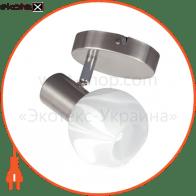 Светильник потолочный декор. 105mm 1xE14 мат.хром 220-240v