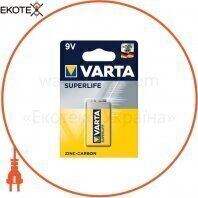 Батарейка VARTA SUPERLIFE 6F22 BLI 1 шт