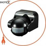 Датчик движения инфракрасный e.sensor.pir.09. black (черный), 180°, IP44