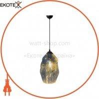 Светильник подвесной E27 250V плафон стекло 1,2м. овальный хром