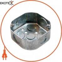 Коробка распаячная e.industrial.pipe.db для труб, металлическая восьмиугольная, толщ. стенки 1,5мм