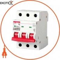 Модульный автоматический выключатель e.mcb.pro.60.3.B 16 new, 3р, 16А, В, 6кА, new