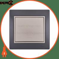 Выключатель 701-2930-100 Цвет Темно-серый/Жемчужно-белый металлик 10АХ 250V~