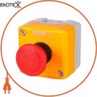 Кнопочный пост e.cs.stand.xal.d.174, стоп, кнопка-грибок, поворотный возврат