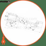 вимикач-роз'єднувач навантаження e.industrial.ukgz.400.3, 3р, 400а, з боковою рукояткою управління