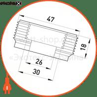 "перехідник металевий e.industrial.pipe.thread.bts.1-1/2"".1"", різьбовий, з 1-1/2"" на 1"" трубы металлические и аксессуары Enext i0410009"