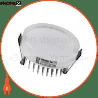 Светильник врезной круг, корпус металл d-82mm ip 20 SMD LED 7W 4200K 560Lm, цвет - белый (85-265v)