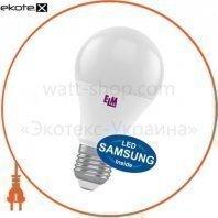 Лампа светодиодная стандартная B60 PA10S 12W E27 3000K алюмопласт. корп. 18-0178