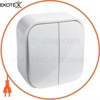 2-клавишный выключатель Legrand Forix 10A Белый (782402)