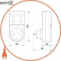 Enext i0310024 реле защитного отключения розеточное e.control.d01