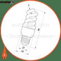 l0260022 Enext энергосберегающие лампы enext лампа енергозберігаюча e.save.screw.e27.9.4200.t2, тип screw, патрон е27, 9w, 4200 к, колба т2