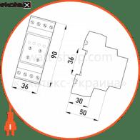 реле контроля напряжения трехфазное регулируемое e.control.v04