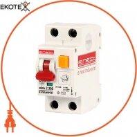 Выключатель дифференциального тока (дифавтомат) e.industrial.elcb.2.C06.300, 2р, 6А, С, 300мА