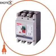 Силовой автоматический выключатель e.industrial.ukm.100Re.100 с электронным расцепителем, 3р, 100А