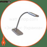 світильник світлодіодний настільний DELUX TF-230 3 Вт LED срібний
