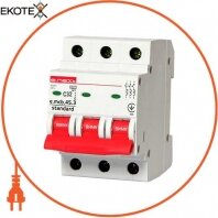 Модульний автоматичний вимикач e.mcb.stand.45.3.C32, 3р 32А, С, 4,5 кА
