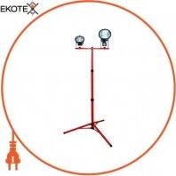 Стійка металева для галогенних прожекторів e.halogen.base.2.150.500, (для 2-х прожекторів по 150 Вт або 500Вт), червона