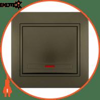 Выключатель с подсветкой 701-3131-111 Цвет Светло-коричневый металлик 10АХ 250V~