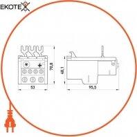 Enext i0110009 тепловое реле e.industrial.ukh.40.36, номин. ток 40а, диап. регул. 24-36 а