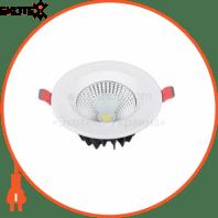 Светильник встраиваемый LED 5W 6400K 341Lm 85-265V d-90мм белый круг.