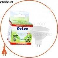 лампа светодиодная DELUX JCDR 3Вт 6000K 220В GU5.3 холодный белый