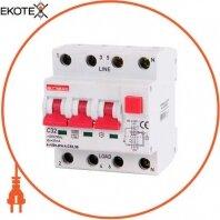 Выключатель дифференциального тока с функцией защиты от сверхтоков e.rcbo.pro.4.С32.30, 3P+N, 32А, С, тип А, 30мА