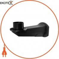 Крепление настенное для светильника типа шар e.street.wall.pc.black, черное