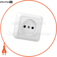 Розетка одинарная накладная OD-10 2к. 41-0005