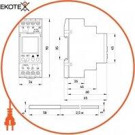 Enext i0310017 реле контролю температури e.control.h02, 16a, ас/dc 24-240, -25…+130 °с