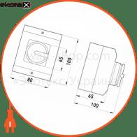 пакетний перемикач в корпусі e.industrial.sb.1-0.3.20, 3р, 20а (0-1) пакетные переключатели Enext i0360001