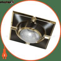 Встраиваемый светильник Feron 098 R-50-S черный золото 17652