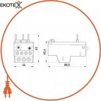 Enext i0110001 тепловое реле e.industrial.ukh.22.1,6, номин. ток 22а, гиап. регул. 1-1, 6 а